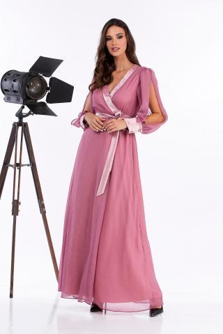 Bellino,  Φόρεμα κρουαζέ ιριζέ πλισέ (ΜΩΒ, L)