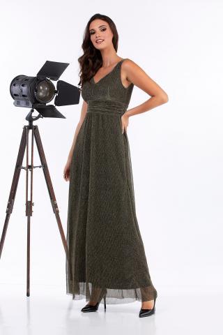 Bellino,  Φόρεμα lurex πλισέ (ΧΡΥΣΟ, L)