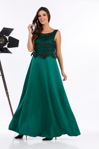 Bellino,  Φόρεμα μακρύ με δέσιμο πίσω (ΠΡΑΣΙΝΟ, L)