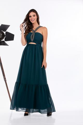 Bellino,  Φόρεμα μακρύ μουσελίνα αέρινη (ΠΕΤΡΟΛ, XL)