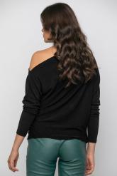 Bellino,  Μπλούζα σε lurex ελαστικό σε άνετη γραμμή (ΜΑΥΡΟ, L)