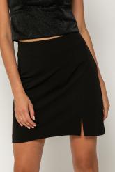 Bellino,  Φούστα mini σε κρεπ ελαστικό με άνοιγμα στο πλάι (ΜΑΥΡΟ, L)