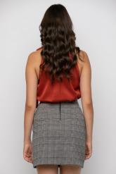 Bellino,  Φούστα κρουαζέ mini σε καρώ ελαστικό (ΚΑΦΕ, L)