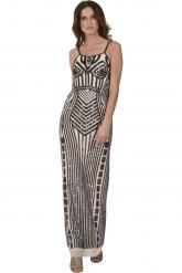 Bellino,  Φόρεμα maxi που αγκαλιάζει το σώμα (ΜΑΥΡΟ, L)