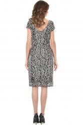 Bellino,  Φόρεμα midi σε παγιέτα σε στενή γραμμή (ΜΑΥΡΟ, L)