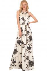 Bellino,  Φόρεμα εμπριμέ σε άνετη γραμμή (ΕΚΡΟΥ, L)