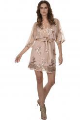 Bellino,  Φόρεμα mini σε άνετη γραμμή (ΜΠΡΟΝΖΕ, L)
