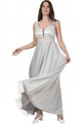 Bellino,  Φόρεμα σε τούλι lurex με ανοιχτή πλάτη (ΓΚΡΙ, L)
