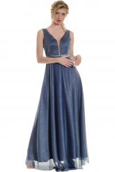 Bellino,  Φόρεμα cocktail σε lurex τούλι (ΙΝΤΙΓΚΟ, L)
