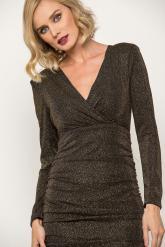 Bellino,  Φόρεμα cocktail midi που αγκαλιάζει το σώμα (ΜΠΡΟΝΖΕ, L)