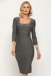 Bellino,  Φόρεμα midi lurex σε στενή γραμμή (ΑΣΗΜΙ, L)