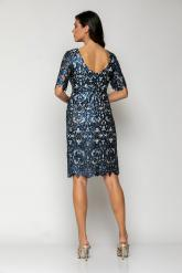 Bellino,  Φόρεμα midi κρουαζέ σε παγιέτα (ΜΠΛΕ, L)