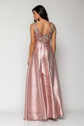 Bellino,  Φόρεμα cocktail maxi σε ταφτά με μπούστο κεντημένο από παγιέτα (ΣΟΜΟΝ, L)