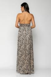 Bellino,  Φόρεμα με κουμπιά πίσω στο λαιμό εξώπλατο maxi (ΜΑΥΡΟ, L)