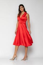 Bellino,  Φόρεμα midi με γιακά και extra ζώνη (ΚΟΚΚΙΝΟ, L)