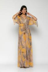 Bellino,  Φόρεμα σε στυλ καφτάνι με διακοσμητική extra ζώνη (ΩΧΡΑ, L)