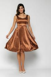 Bellino,  Φόρεμα midi με φαρδιά τιράντα και πιέτες κάτω (ΚΑΦΕ, L)