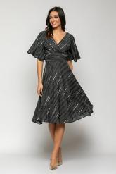 Bellino,  Φόρεμα cocktail lurex κρουαζέ (ΜΑΥΡΟ, L)