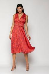 Bellino,  Φόρεμα midi  με γιακά και extra ζώνη (ΚΟΡΑΛΙ, S)