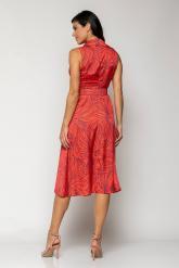 Bellino,  Φόρεμα midi  με γιακά και extra ζώνη (ΚΟΡΑΛΙ, L)