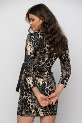 Bellino,  Φόρεμα mini κρουαζέ δερματίνη σε στενή γραμμή (ΜΑΥΡΟ, L)