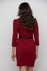 Bellino,  Φόρεμα κρουαζέ με πέτο γιακά σε στενή θηλυκή γραμμή (ΜΠΟΡΝΤΟ, XXXL)
