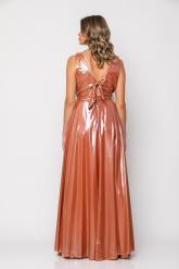 Bellino,  Φόρεμα cocktail maxi κρουαζέ (ΜΠΡΟΝΖΕ, L)