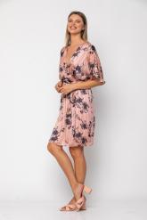 Bellino,  Φόρεμα κοντό κρουαζέ σε φαρδιά γραμμή με ζώνη (ΣΟΜΟΝ, M)