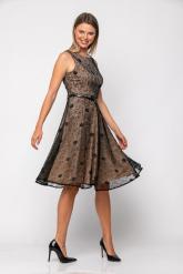 Bellino,  Φόρεμα cocktail midi σε δαντέλα με ανοιχτή πλάτη (ΜΑΥΡΟ, L)
