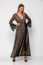 Bellino,  Φόρεμα cocktail σε δαντέλα κρουαζέ (ΜΑΥΡΟ, L)